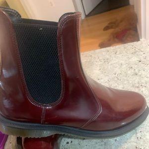 Doc marten burgundy Chelsea boots size 10